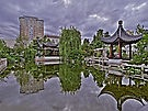 """ Portland Chinese Garden - 1,"" image by artist Gary Rondez - open LINKAGE for larger view."