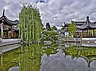 """ Portland Chinese Garden - 2,"" image by artist Gary Rondez - open LINKAGE for larger view."