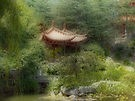 """ Chinese Garden,"" by artist RedBubble missmoneypenny - open LINKAGE for larger view."
