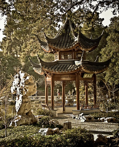 """ Chinese Garden,"" by artist boehmgraphics [ RedBubble name ] - please use LINKAGE for further detail."