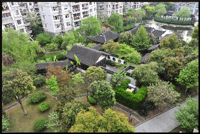 A ' real-time,' image of the Hangzhou Community Hall Garden.