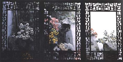 Chinese garden windows, enlighten the scene