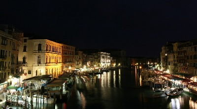 Venice - Watertown, by night.