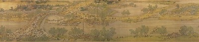 A portion of the painting of Qingming Shanghe Tu, as relating to the above.
