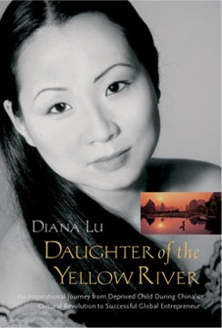 "Cover photo of Author Diana Lu's book "" Daughter of the Yellow River."""