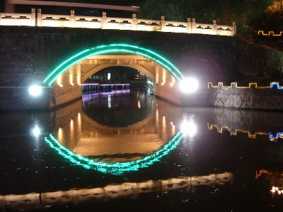 Yangzhou's Grand Canal, by night