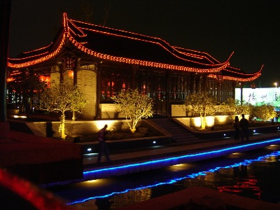 A closer view of Yangzhou lighting