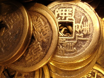 Chinese coins photo.