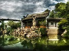 """ The Chinese Garden,"" by artist Mike Savad - open LINKAGE for larger view."