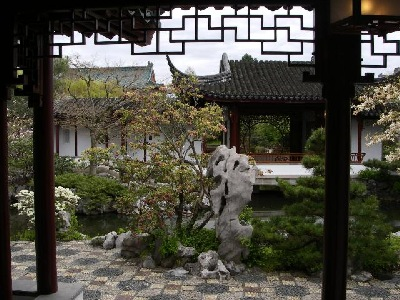 View Framed in the Dr. Sun Yat-Sen Classical Chinese Garden, Vancouver, BC