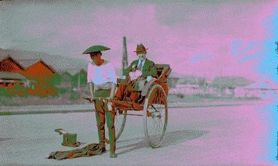 Old photo of an old Rickshaw