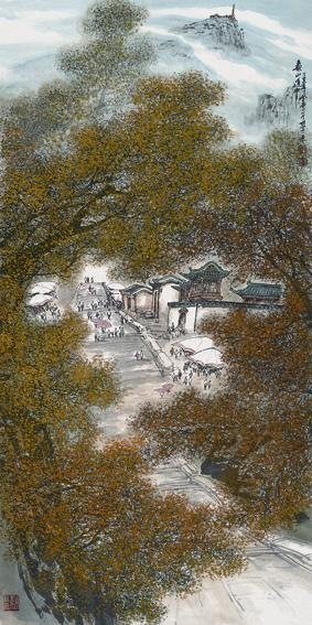 Passage in Mount Tai by painter Zhang Dengtang