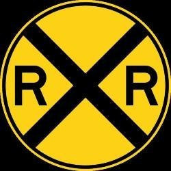 Rail Road Ahead  Sign