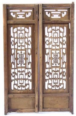 Old Chinese crafted doors