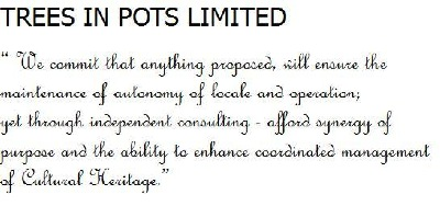 Commitment of Trees 'N Pots