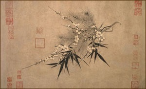 """ Three Friends of Winter."" painting by Zhao Mengjian in the 14th Century."