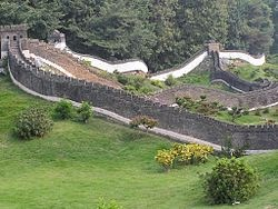 The Great Wall - ' diminutive,' in the Splendid China, of Shenzhen.