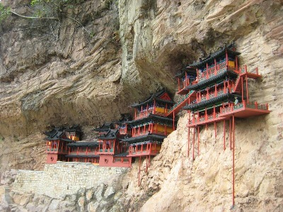 'The Monastery,' on a ' diminutive,' scale - no less precarious, built against the cliffs of Splendid China, in Shenzhen.