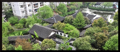 Community Hall garden in Hangzhou.