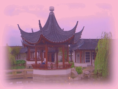 "The Heart of the Lake Pavilion, in the Dunedin Chinese Garden  "" Lan Yuan."""