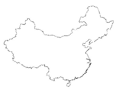 China's mapped outline.