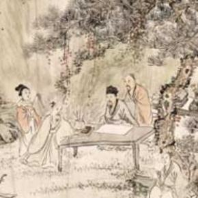""" Elegant Gathering,""  a painting by artist Zhou Yan - 1902, which was on loan from Dr. James Hayes, at the Art Gallery of NSW, Australia - for an education event held on Monday, 3 October 2005 - called  ' Poetic Mandarin Calligraphy Culture Day.'"