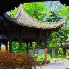 A Chinese garden pavilion