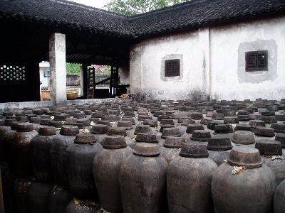 A Chinese wine production unit.