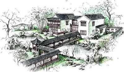 Chinese Garden Scene