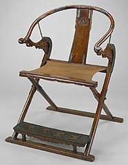 Ancient Chinese chair, similar to modern day Director's chair